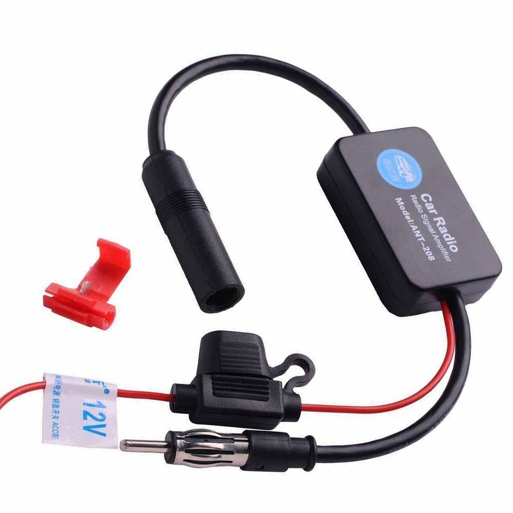 FM Car Radio FM AM Antenna Signal Amplifier Booster ANT-208 12V for Marine