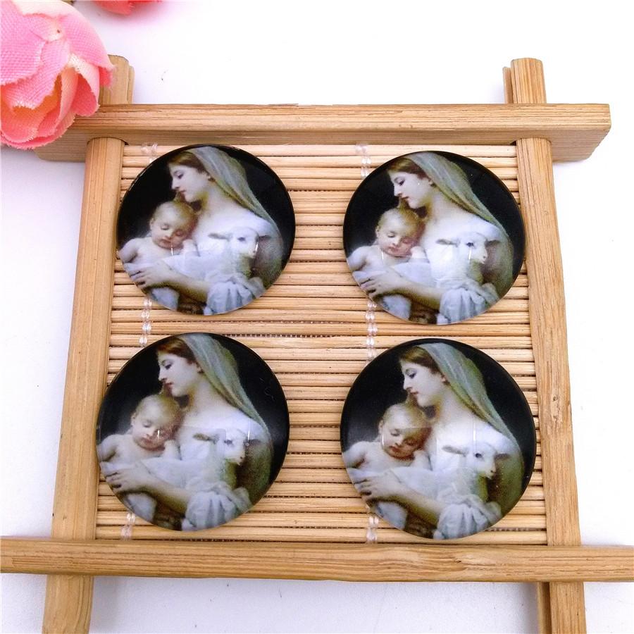 Wholesale 25mm Love Cupid Handmade Glass Dome Cabochon Cameo Flatback T209