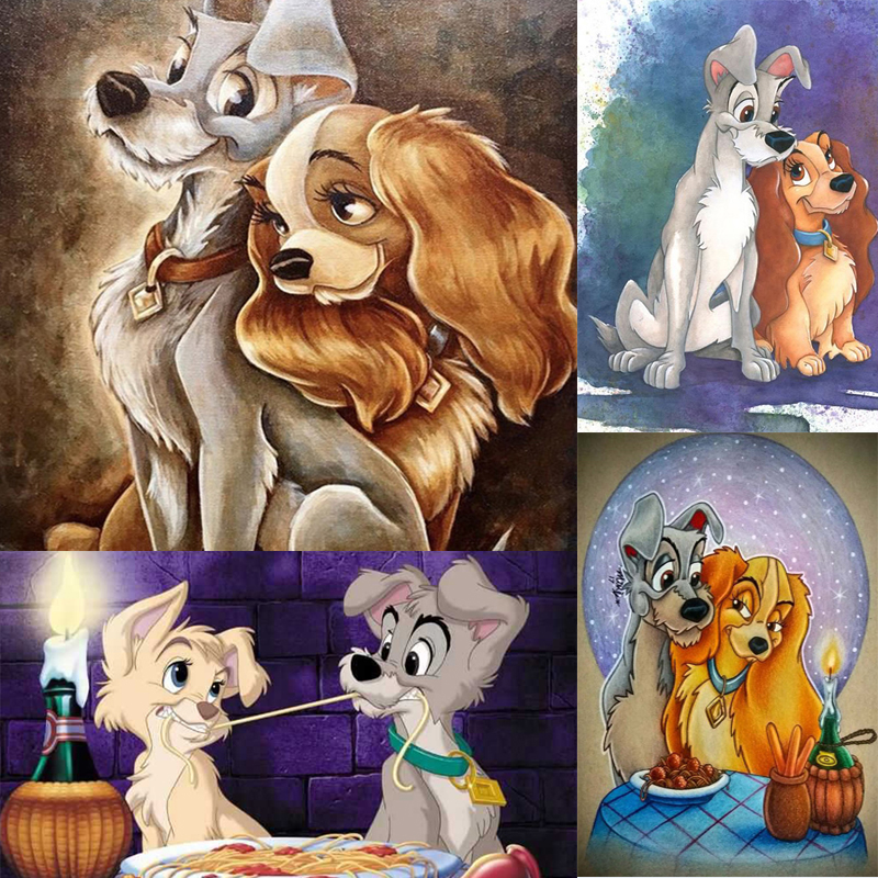 Lady Tramp Arts Crafts Arts 5d Diamond Painting Kits Cross Stitch Embroidery Uk Ebay