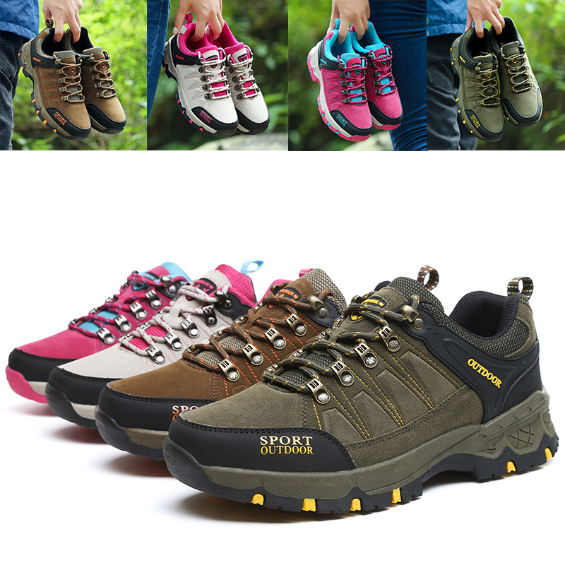403546d0311 MENS WOMENS HIKING BOOTS WALKING ANKLE TRAIL TREKKING TRAINERS ...