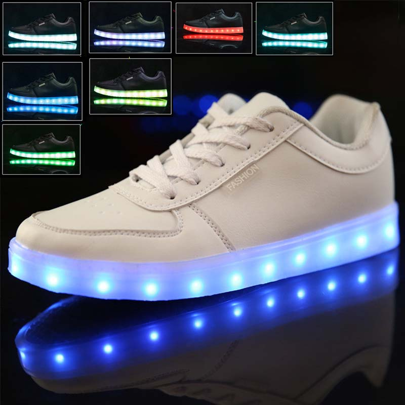 Details about Kids Light Up Shoes Glow in The Dark Sneakers LED Casual  Luminous Trainers Gift b50aebc41031
