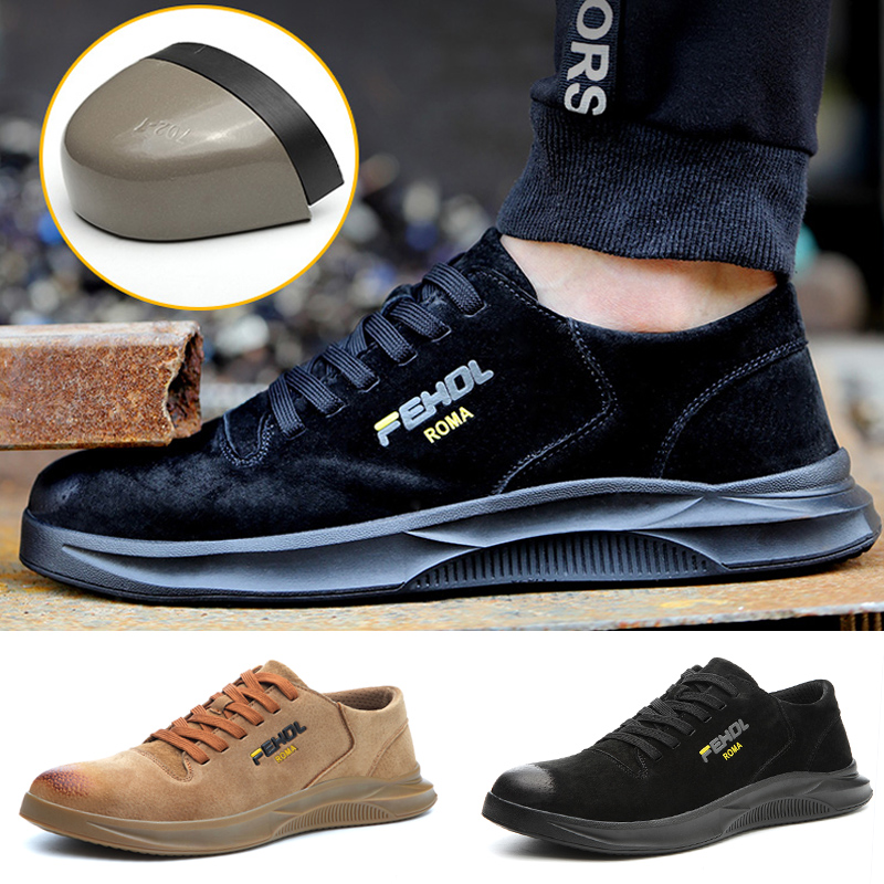 Mens Women Safety Steel Toe Cap Mesh Shoes  Work Protective trainers Hiking Shoe