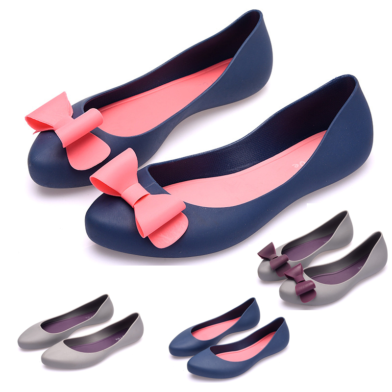 Details about UK Womens Ladies Flat Sandals Slip On Pumps Bow Jelly Shoes Soft Footed Size