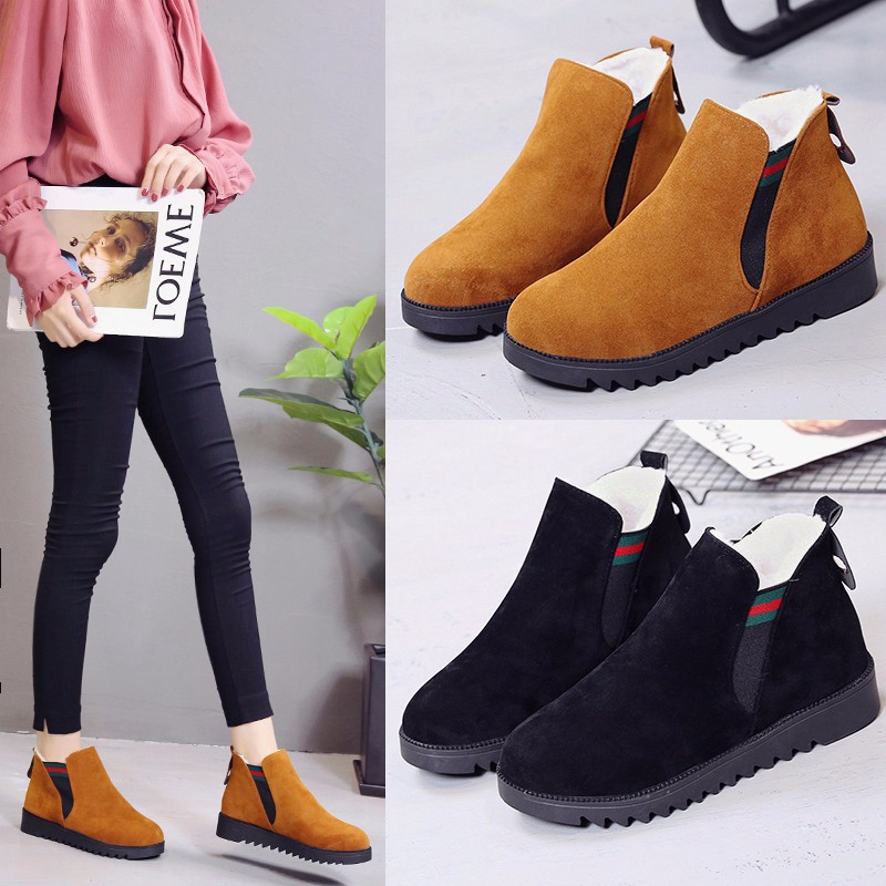 release date: sale amazon Details about Womens Warm Fur Lined Snow Boots Ladies Flat Ankle Boots  Suede Winter Shoes Size