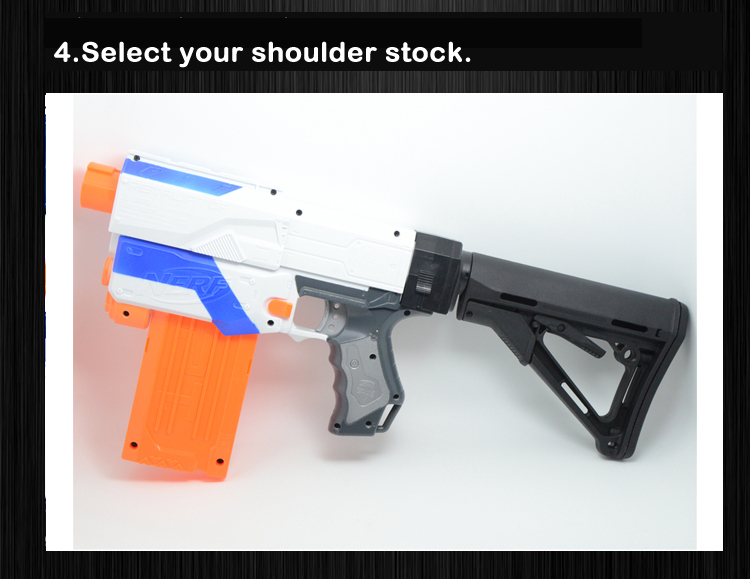 Worker Mod Shoulder Stock Adjustable L Shape Stock with Sling Swivel for  Nerf N-strike Elite Modify Toy