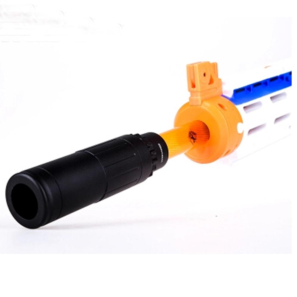 Worker Modify Flash Hider Suppressor Silencer Aluminum alloy for Nerf Dart  Toy