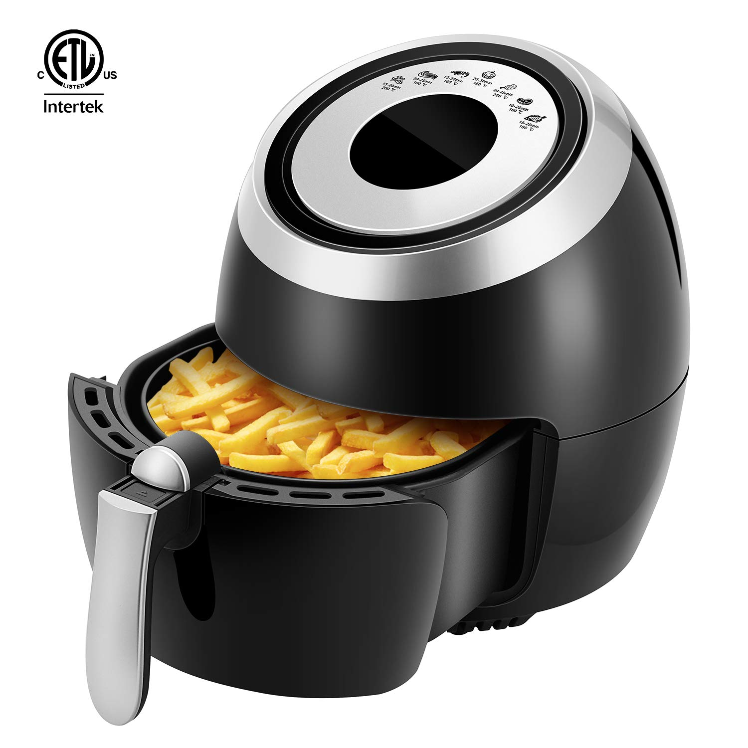 Electric Hot Air Fryer Oven Oilless Cooker 32 Recipes Auto Shut Off Nonstick Fry Basket LED Digital Touchscreen with 7 Cooking Presets Air Fryer XL Temp//Time Control 1400W Dishwasher Safe