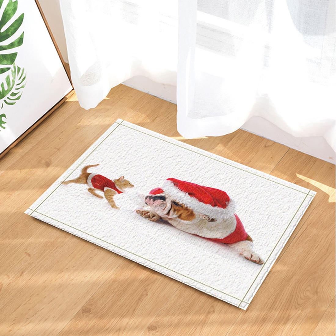 gwell weihnachten anti schimmel duschvorhang fu matte badteppich wc vorleger ebay. Black Bedroom Furniture Sets. Home Design Ideas