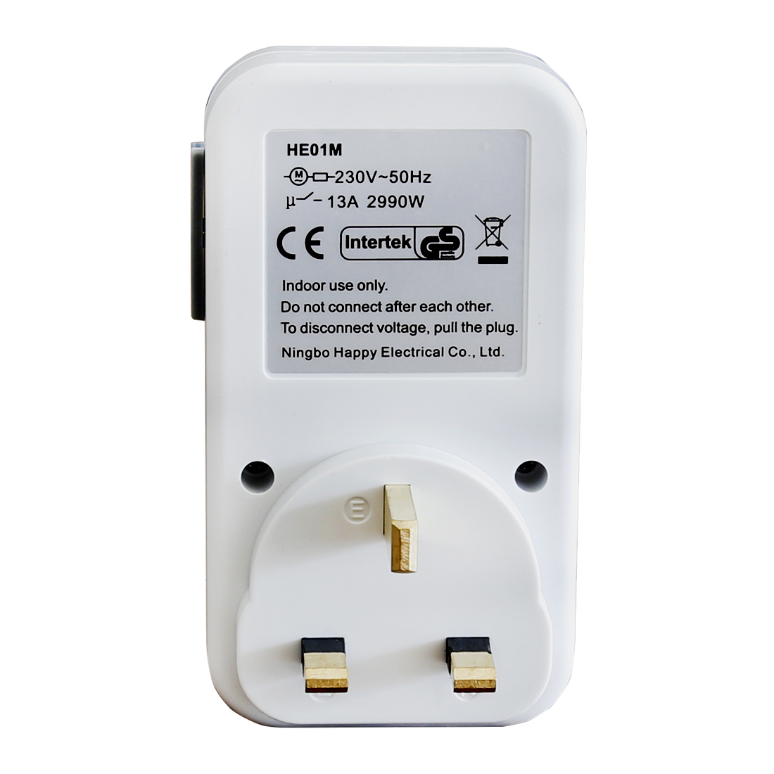 24 Hours Mechanical Plug In Timer 3 Pin Single Outlet Socket On Volt Wiring And Receptacle Off Switch