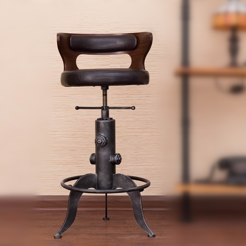 Details about RUSTIC INDUSTRIAL RETRO VINTAGE METAL BAR STOOL KITCHEN  COUNTER CHAIR BACKREST