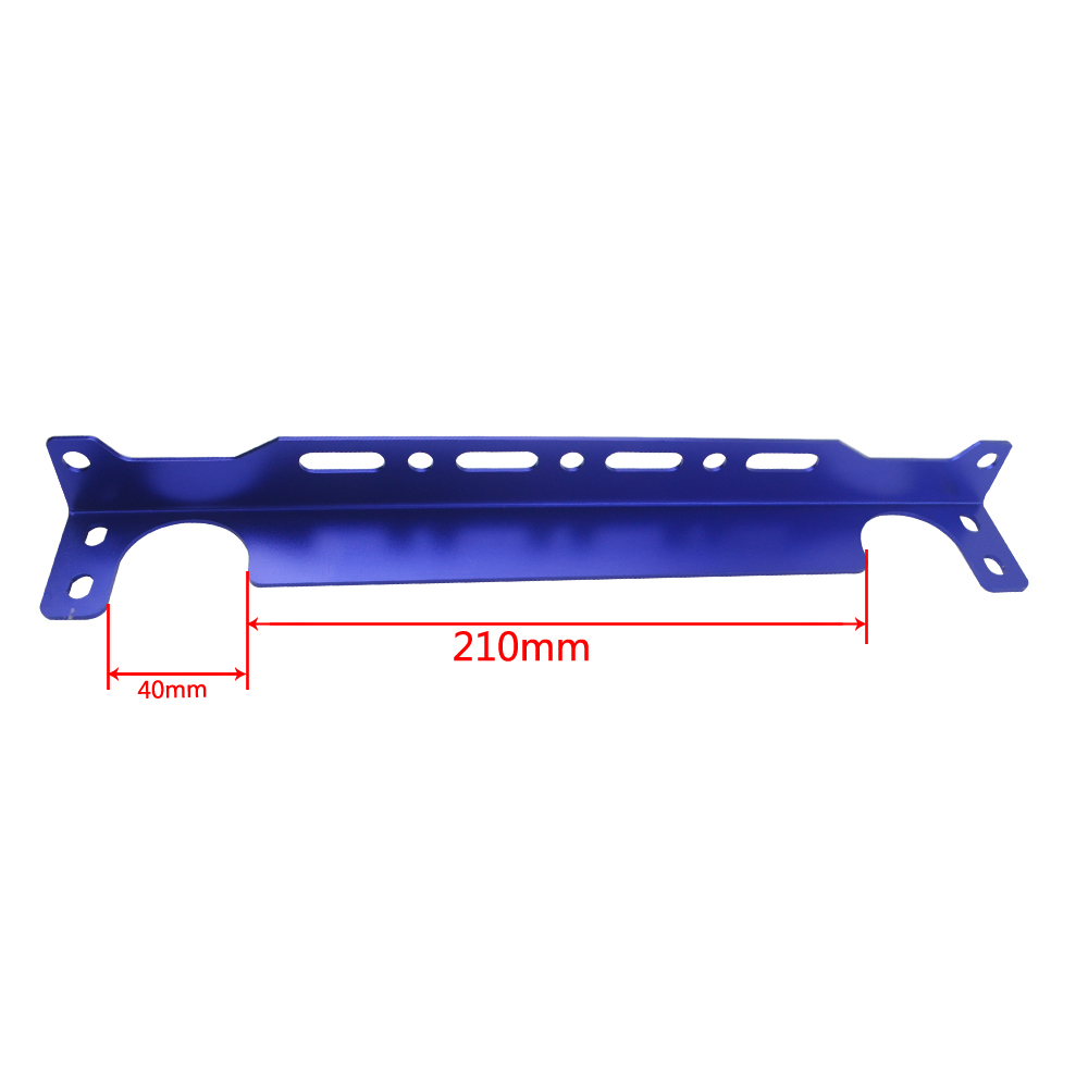 Universal Engine Oil Cooler Mounting Bracket Kit 2mm Thickness Blue Anodized