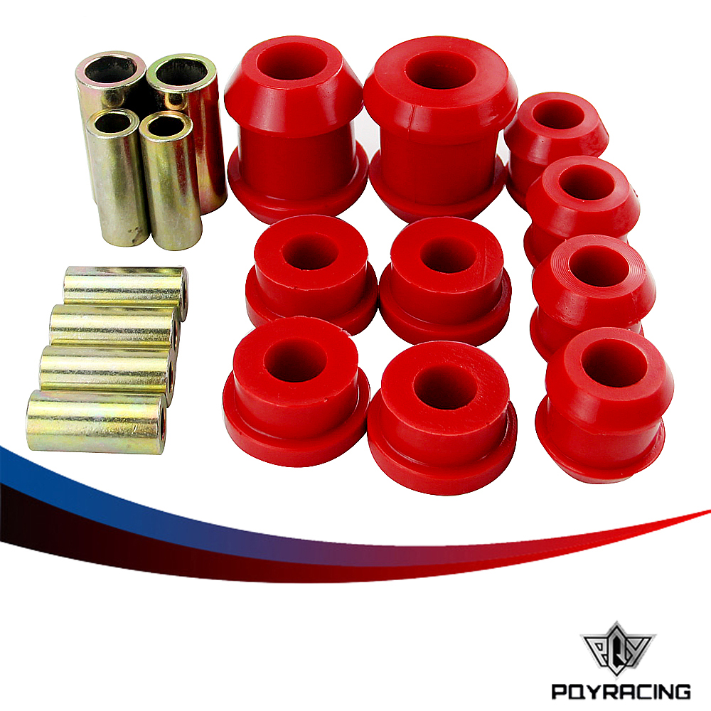 Front Upper And Lower Control Arm Bushing Kit For Honda Civic Acura Integra  Red