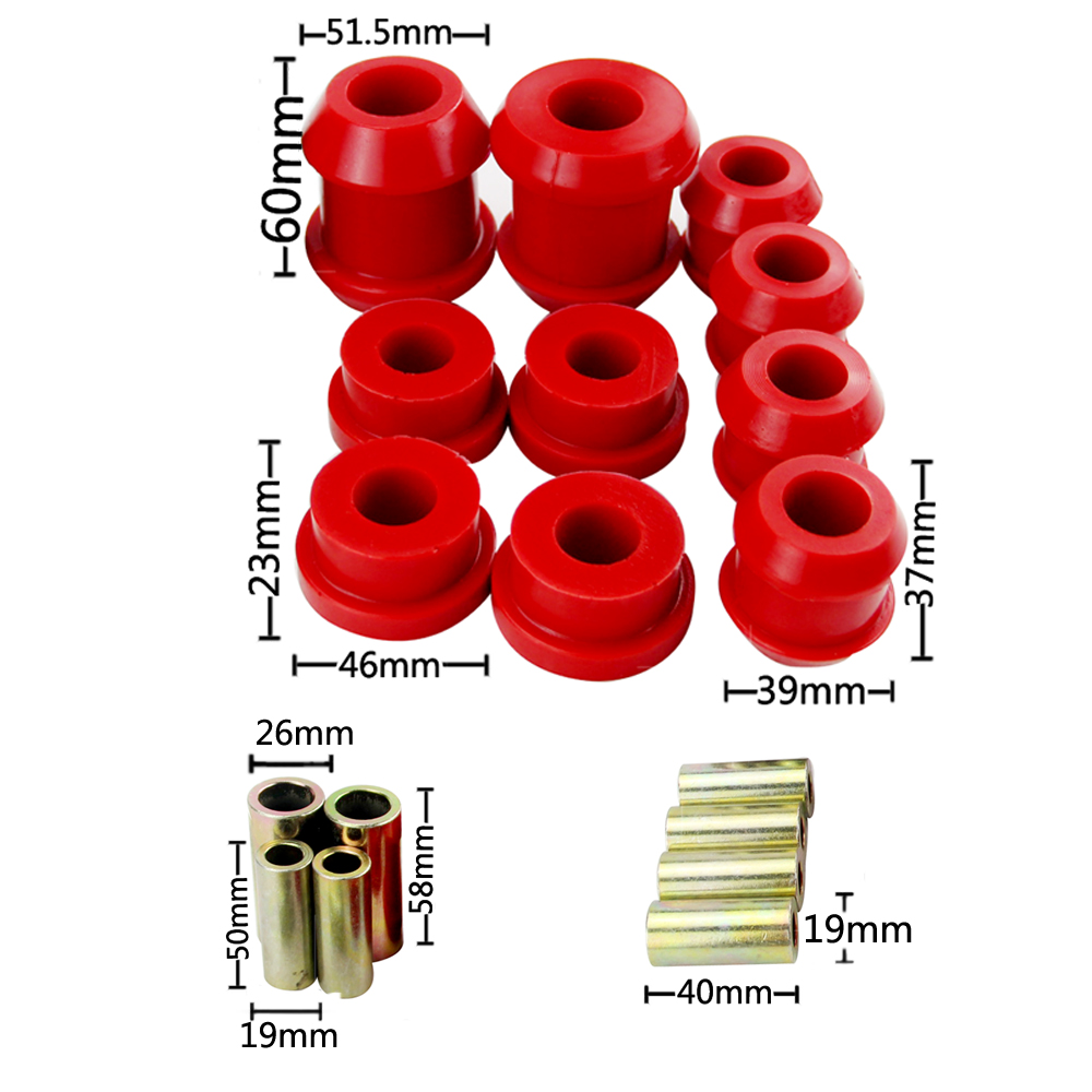 Front Upper And Lower Control Arm Bushing Kit For Honda