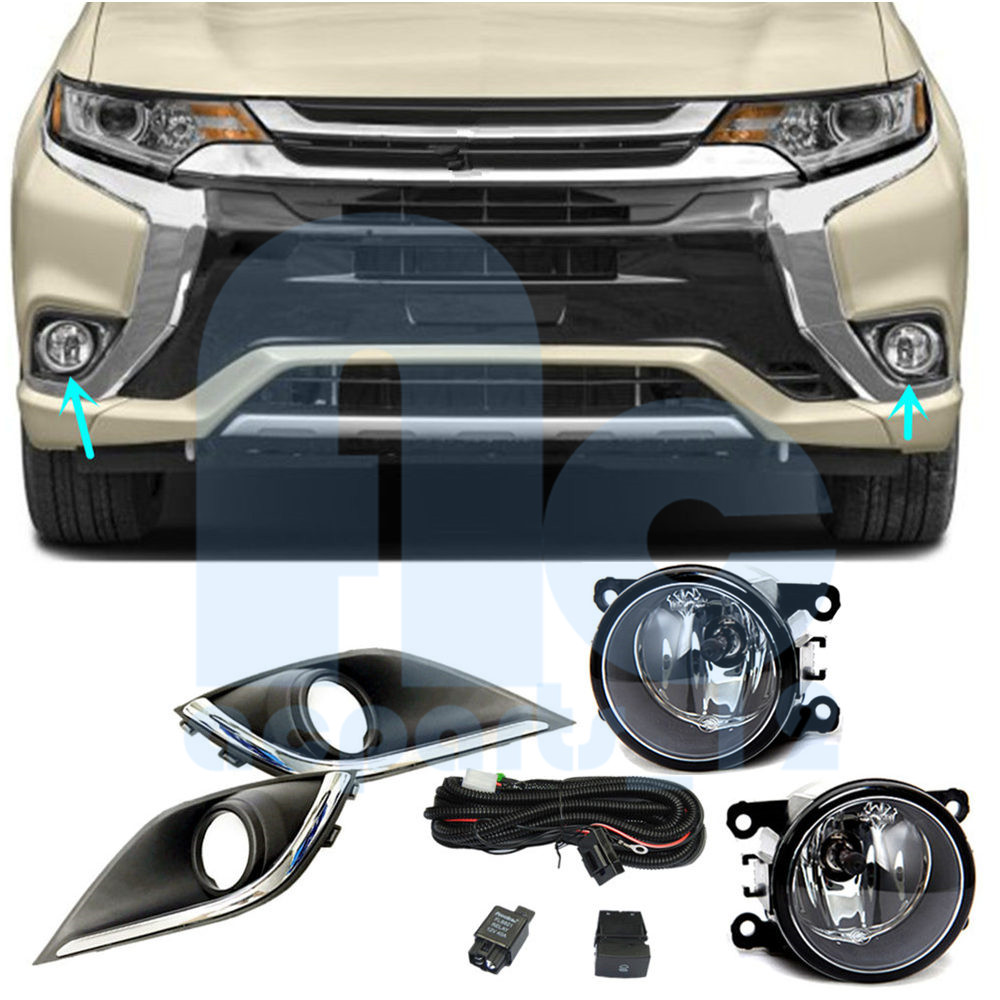 Fog Light Cover Harness Switch Wire Kits For Mitsubishi
