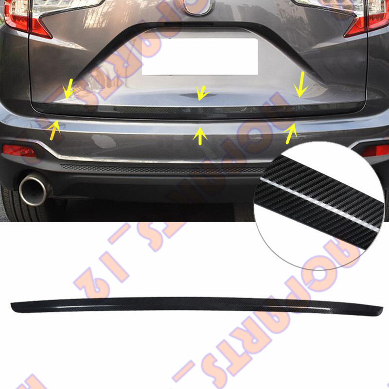 1PCS Auto Trunk Door Bottom Carbon Fiber Decorative Trim