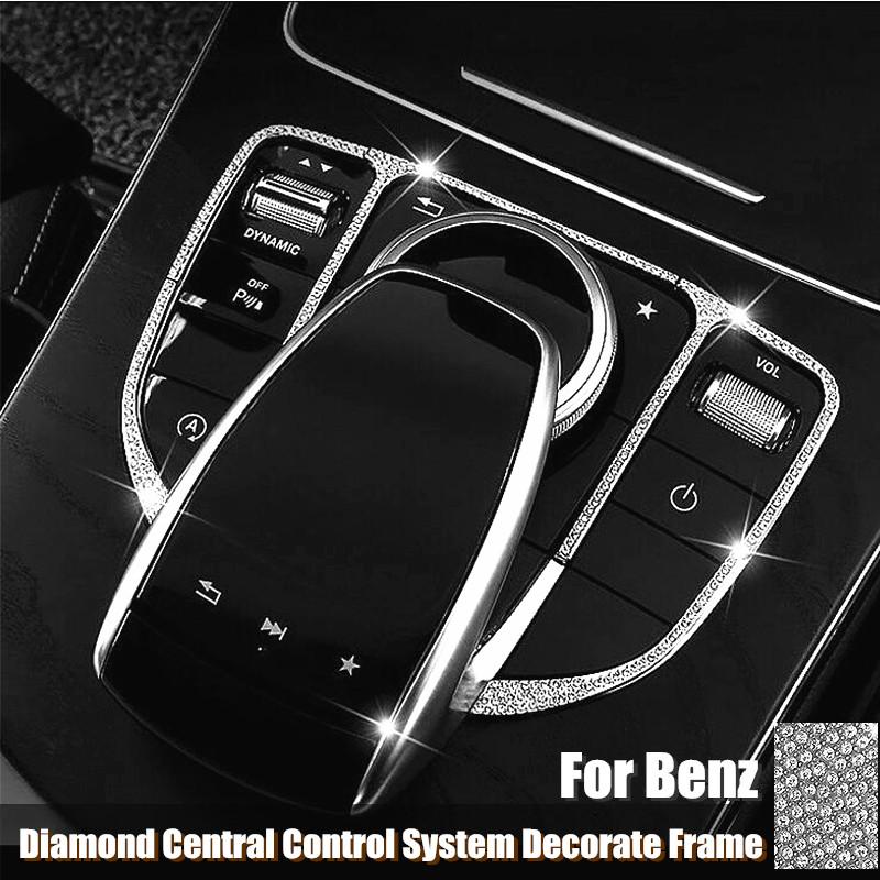 Center Console Multi Media Knob Switch Button Cover Trim For A3 2017-18