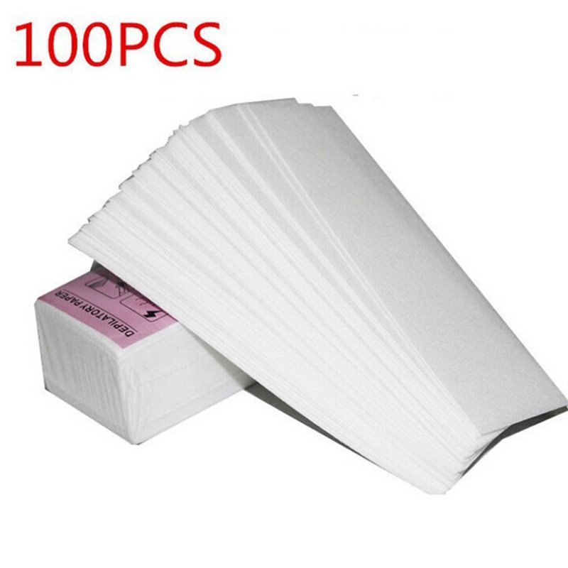100pcs Hair Removal Wax Strips For Face Body Professional Wax