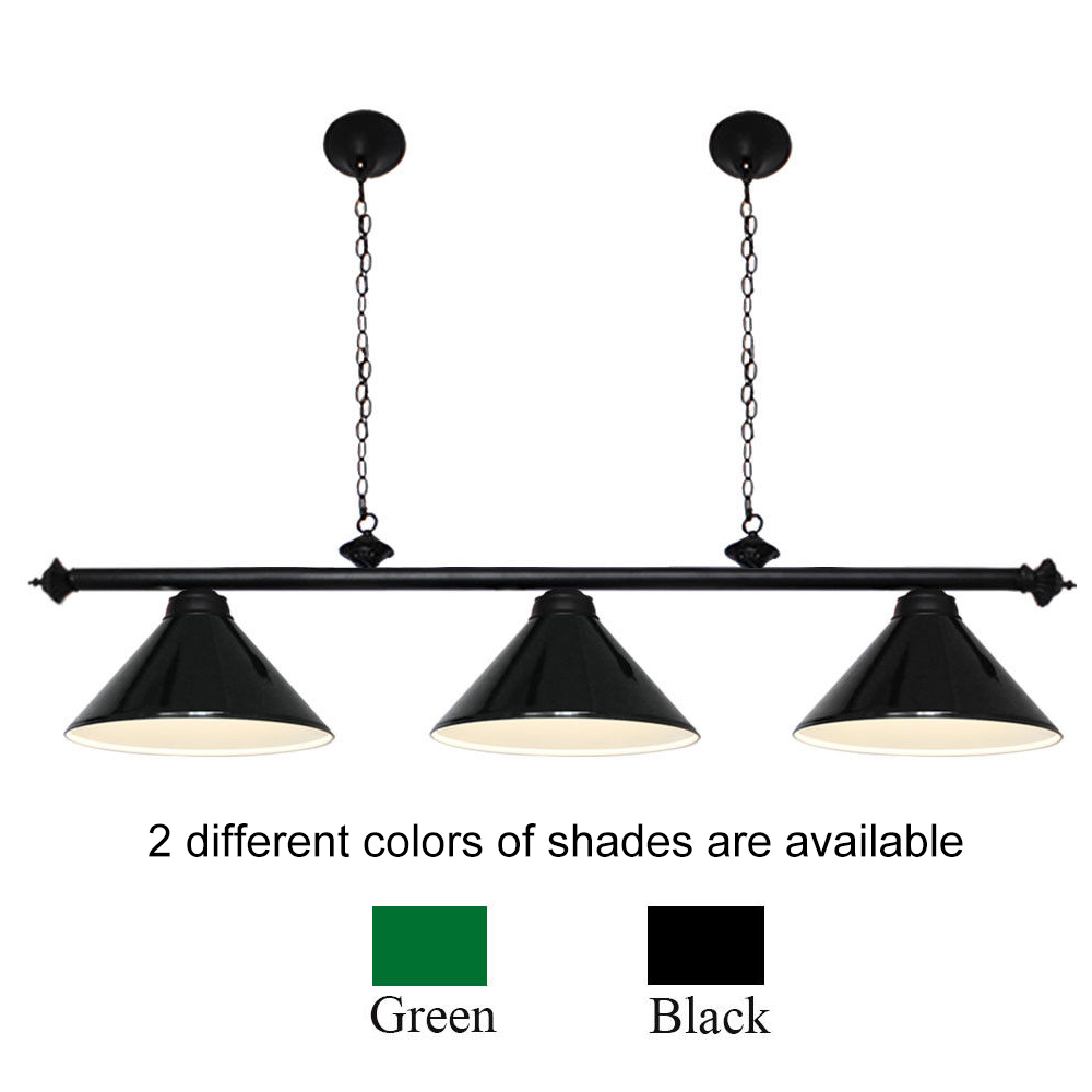 Details About Modern Pool Table Light Billiard 3 Lights Pendant Black Metal Shades