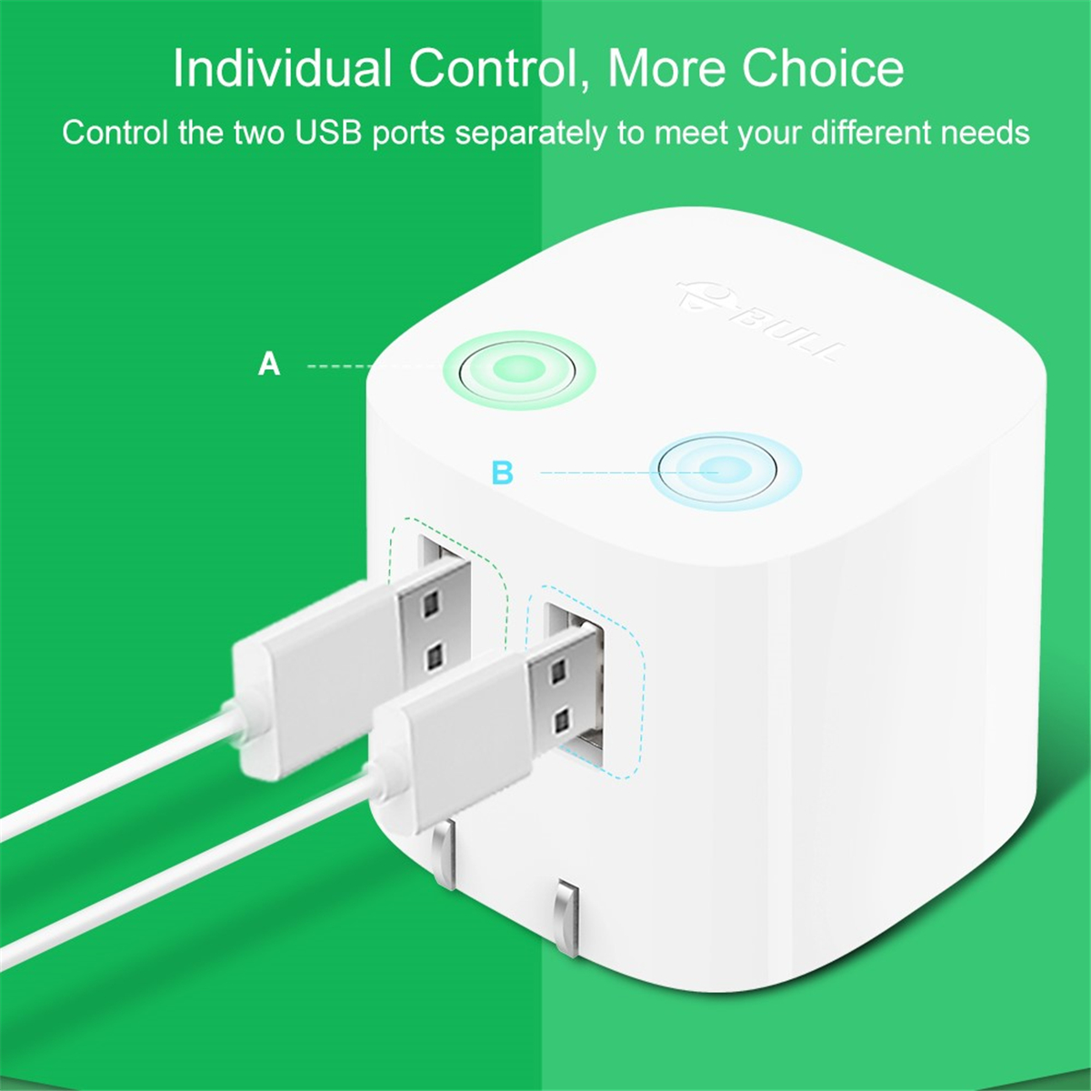 Bull Dual Usb Wall Charger With Auto Power Off Technology Travel Power Adapter Ebay