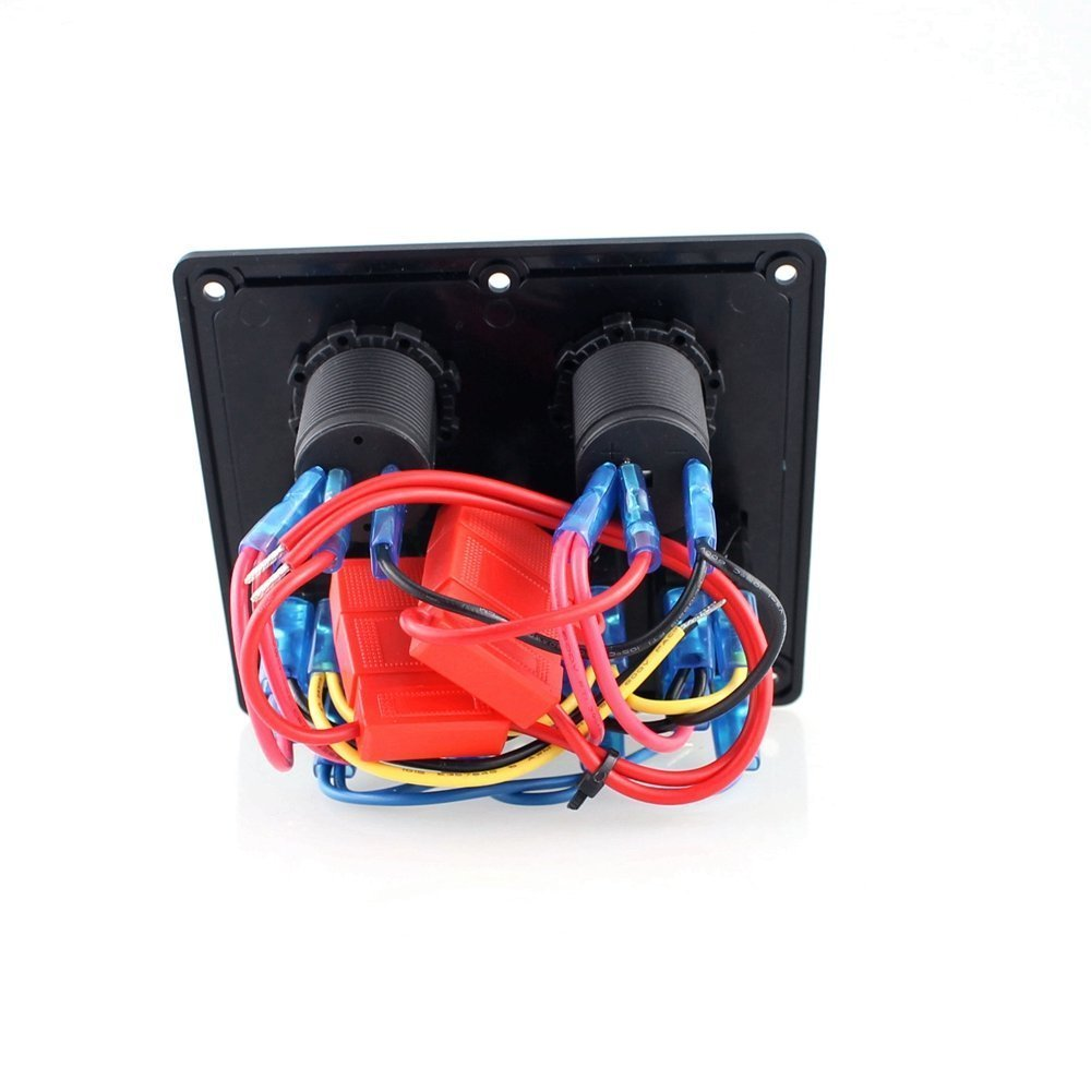 12825b95 744c 4a7d b7e2 78bfdd7f5761 purishion marine boat car 4 gang rocker switch panel voltmeter  at aneh.co