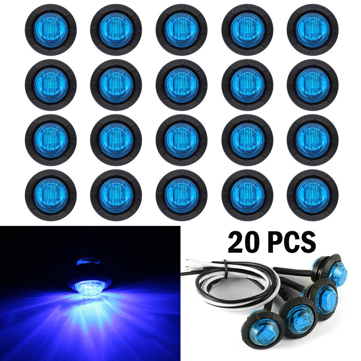 Led Bullet Blue Light Round Side Marker