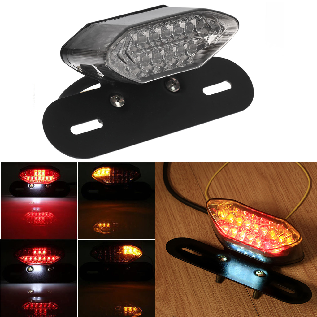 Atv,rv,boat & Other Vehicle Universal Red Cross Led Rear Tail Brake License Plate Light For Choppers Quads High Quality