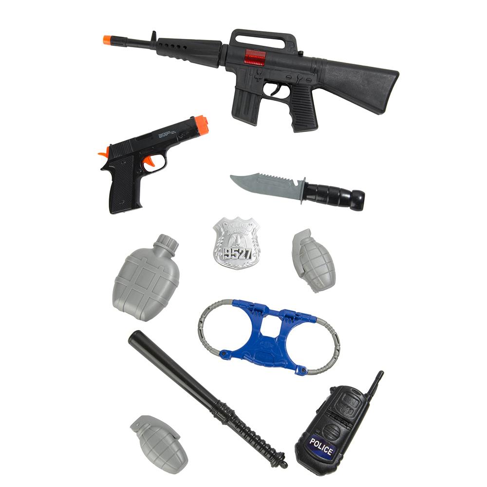 10Pcs Kids Police Gear Pretend Play Set Toy Gun Rifle ...