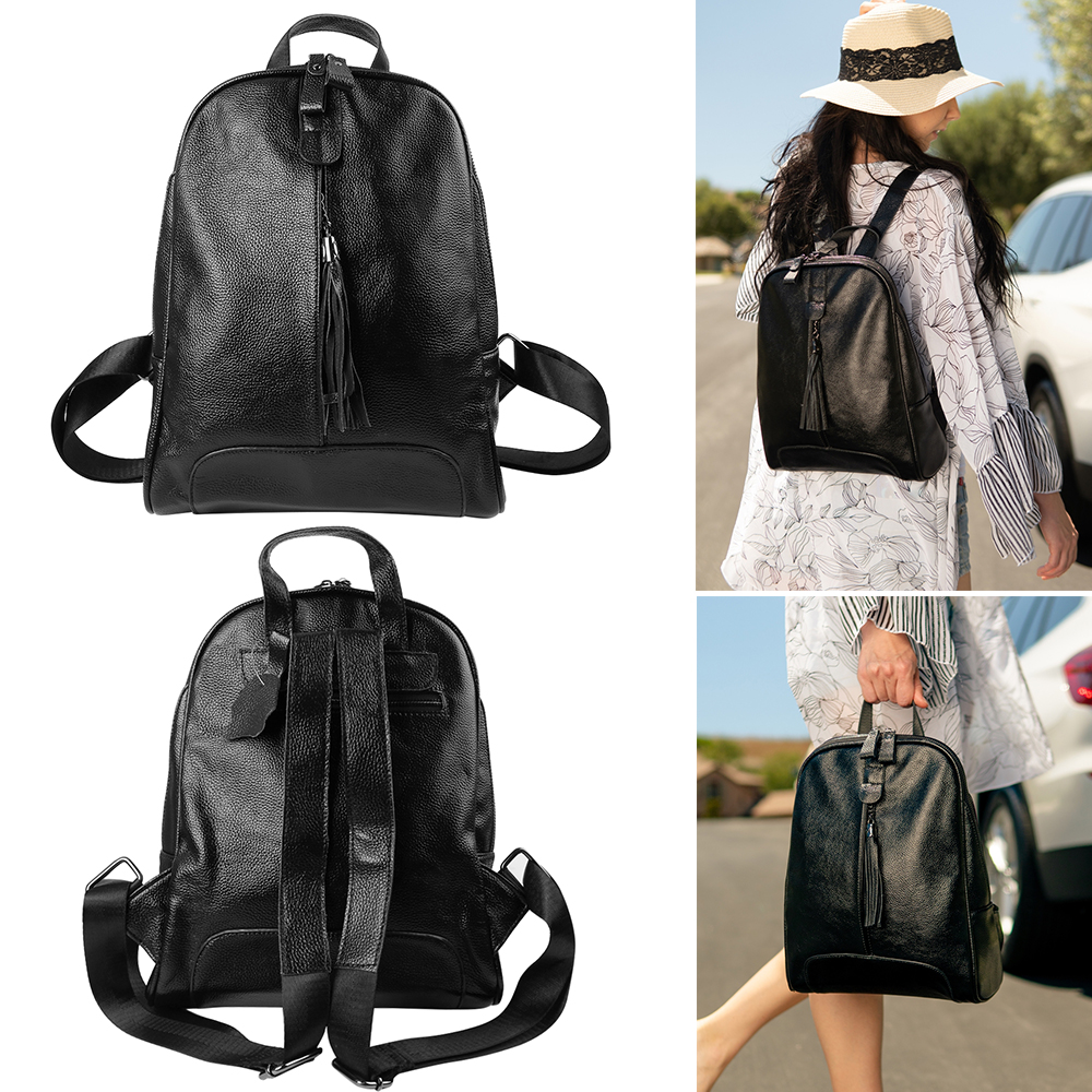 Ladies Genuine Leather School Bag Rucksack Backpack Travel Shoulder Bag