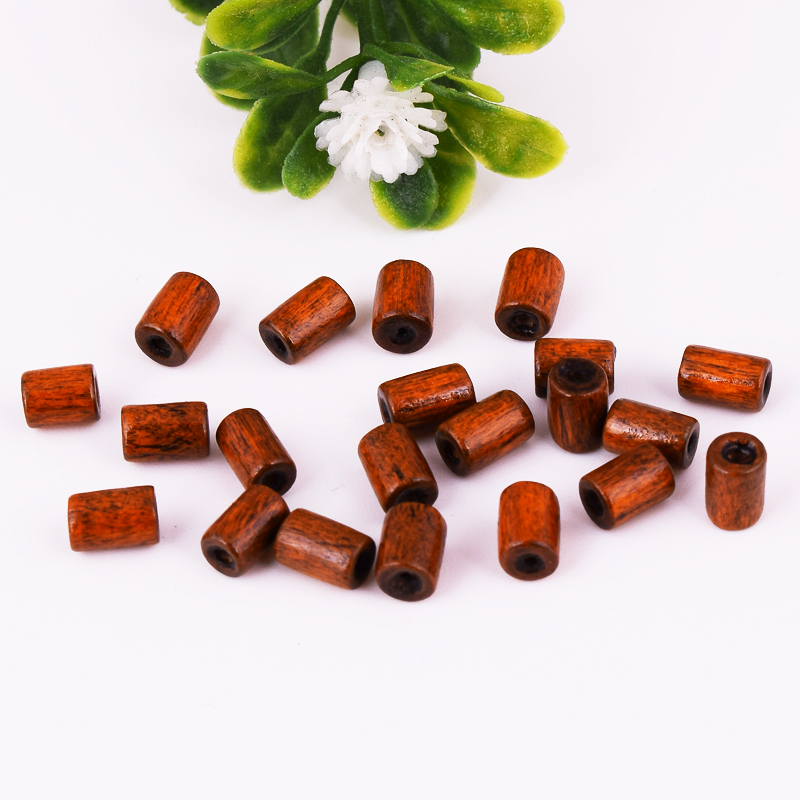 Lot Wood Loose Spacer Beads Tube Charm Jewelry Findings 6x4mm Wholesale DIY