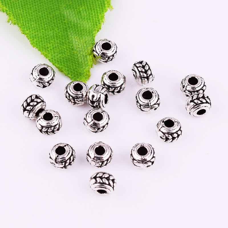 3-4-6mm métal Cube Spacer Beads Tibetan Silver Charme Jewelry Findings Wholesale
