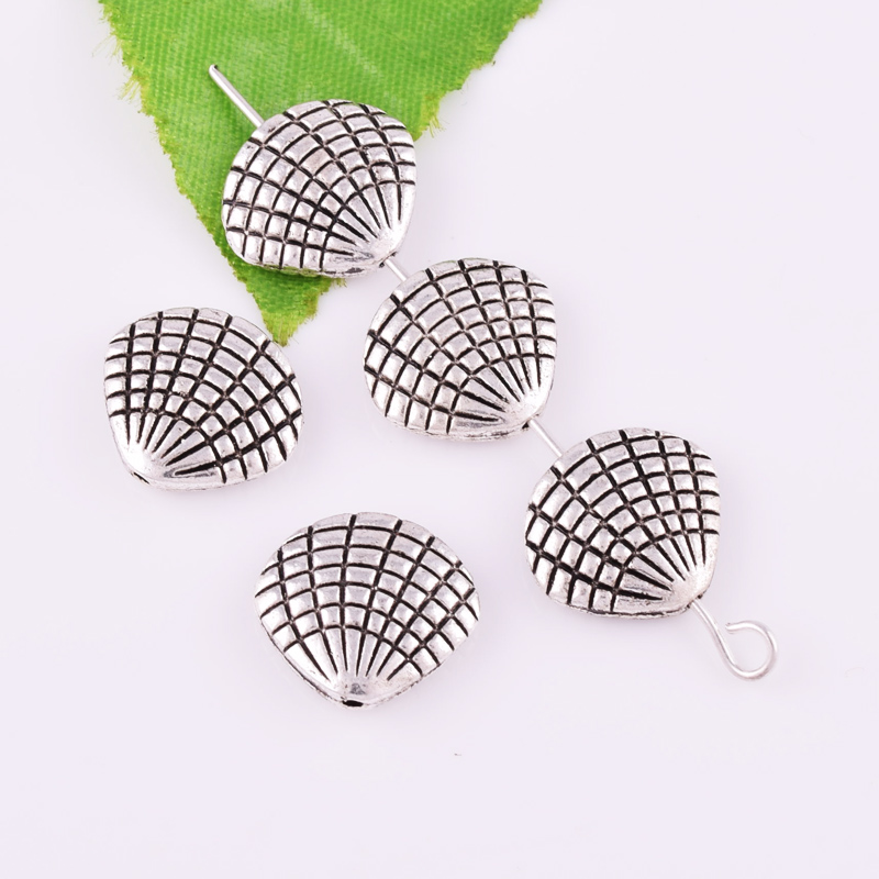 10X Tibetan Round Flat Charm Spacer Beads 8x3mm Jewelry DIY Findings Alloy
