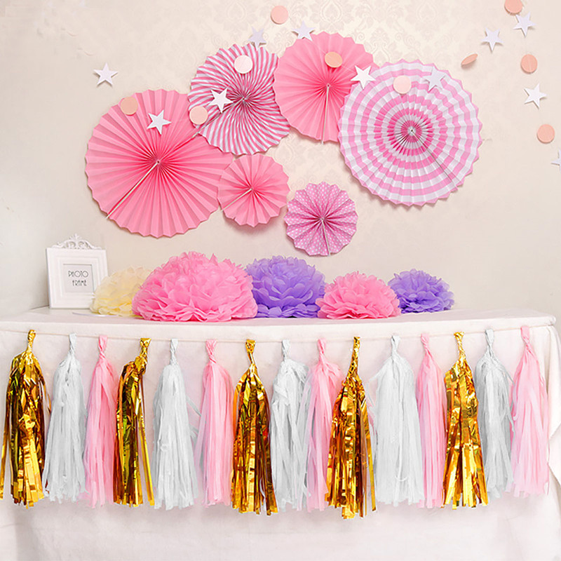 20Pcs Tissue Tassels Paper Garland Bunting Wedding Birthday Party Balloon Great