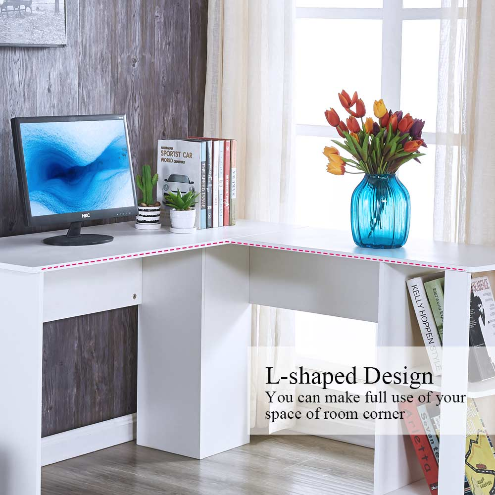 L Shaped Corner Desk Computer Workstation Home Office: L-Shaped Computer Desk Home Office Workstation Corner