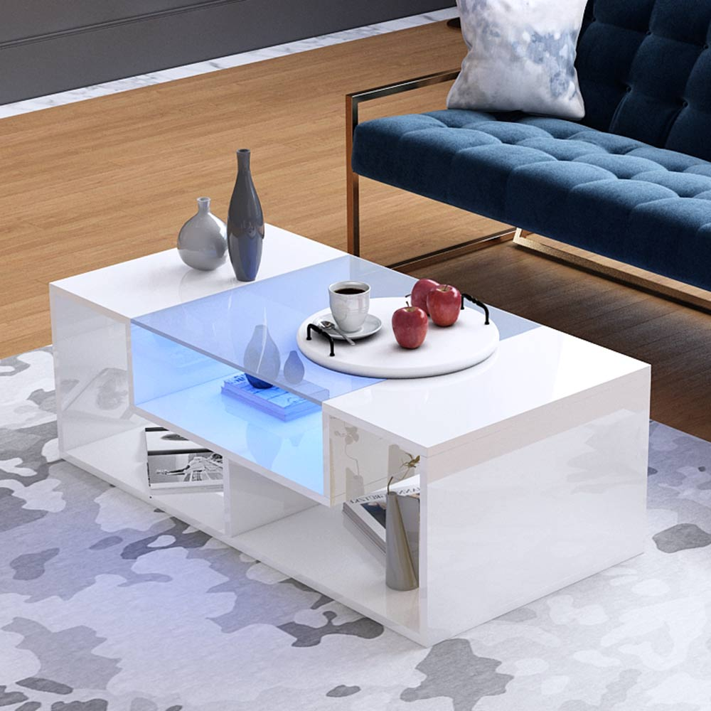Glass Led Coffee Table 5