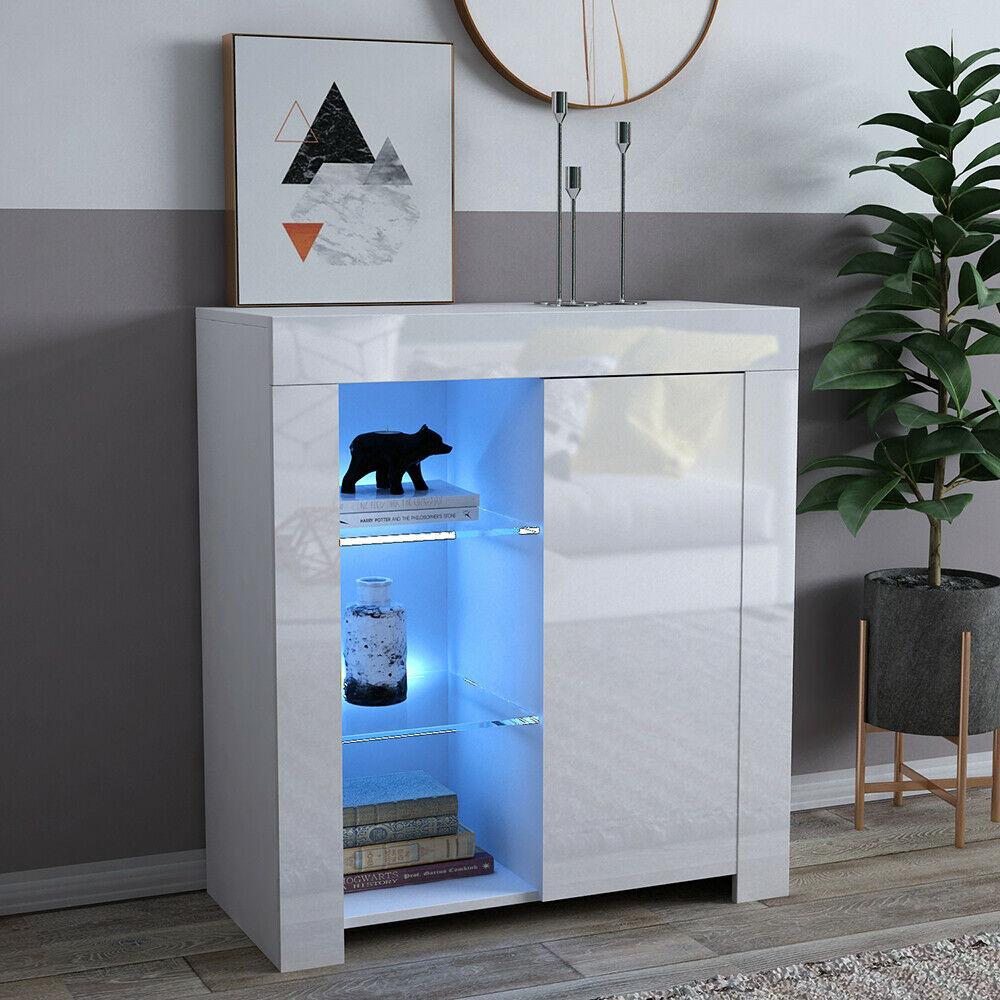 High Gloss And Matt White Cabinet Cupboard Sideboard
