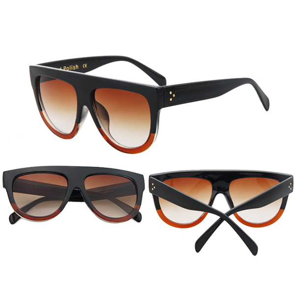 Women-Metal-FrameOversized-Cat-Eye-Glasses-Eyewear-Mirrored-Sunglasses-Retro