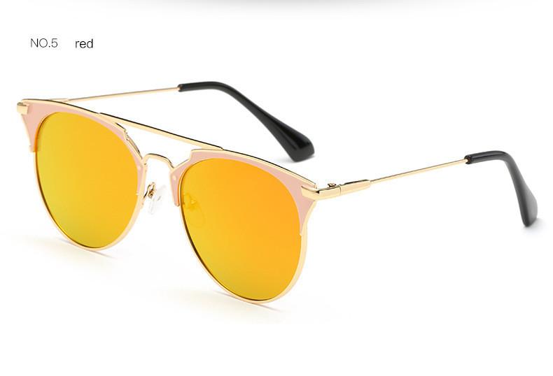 Specchio rosa dorato occhiali da sole donna rotondo lusso marca per moda ebay - Occhiali per truccarsi allo specchio ...