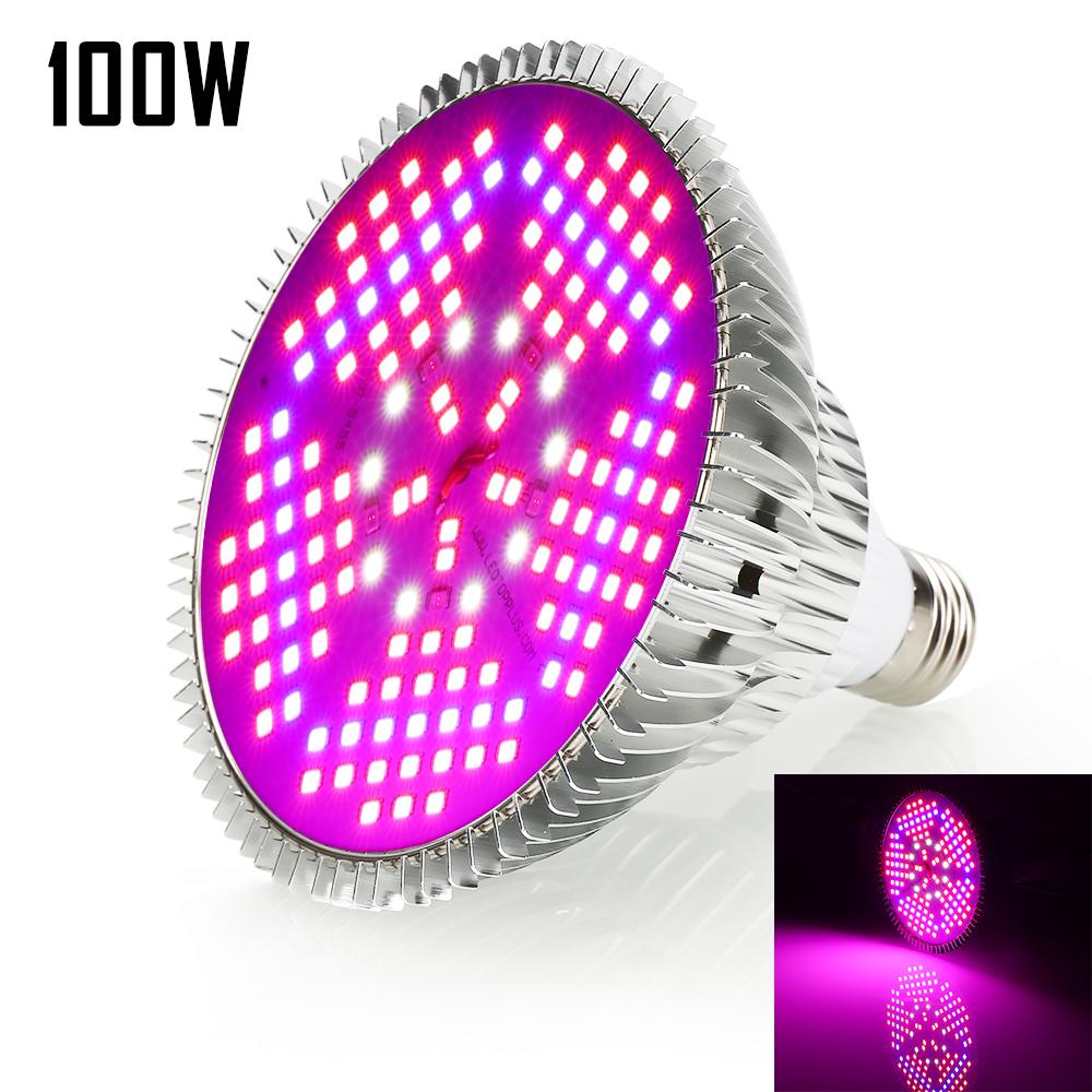 E27 LED Grow Light 305080100W Lamp Bulb Full Spectrum for