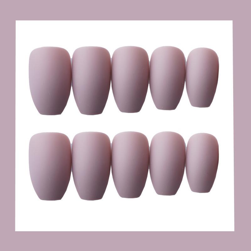 24x-Acrylic-Fake-False-French-Nails-Full-Cover-Nude-Black-Pink-Nail-Tips-Art-DIY thumbnail 6