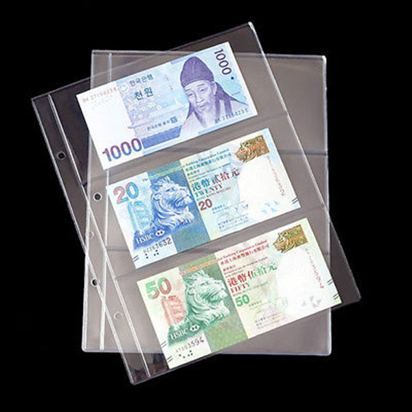 15 BCW 3 POCKET CURRENCY SMALL or LARGE US PAPER MONEY BILL ALBUM PAGES