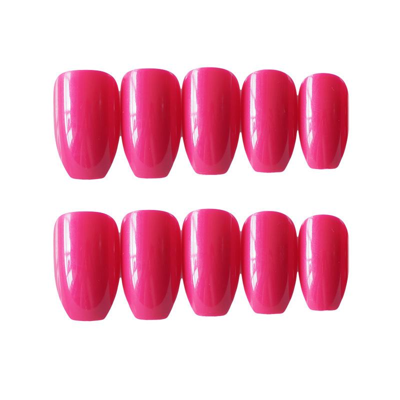 24x-Acrylic-Fake-False-French-Nails-Full-Cover-Nude-Black-Pink-Nail-Tips-Art-DIY thumbnail 16