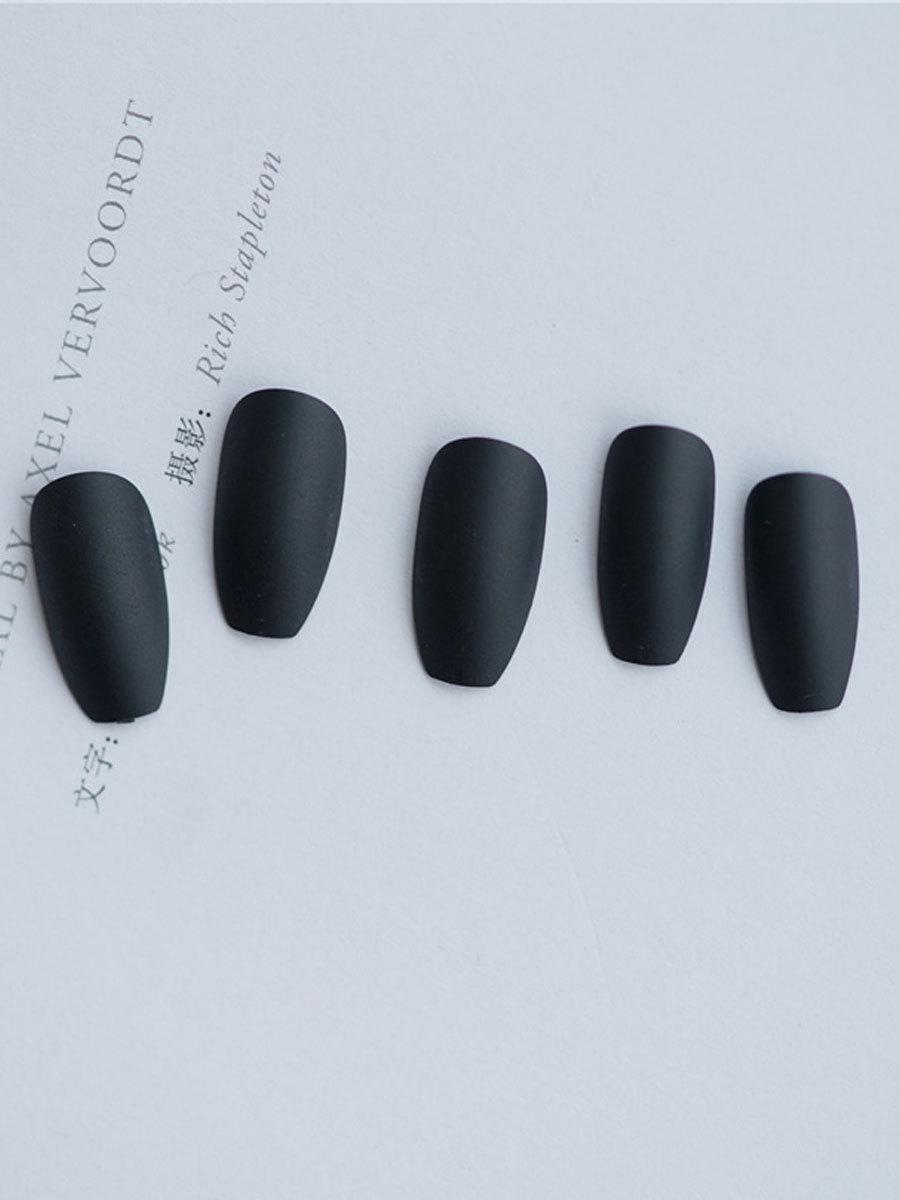 24x-Acrylic-Fake-False-French-Nails-Full-Cover-Nude-Black-Pink-Nail-Tips-Art-DIY thumbnail 10