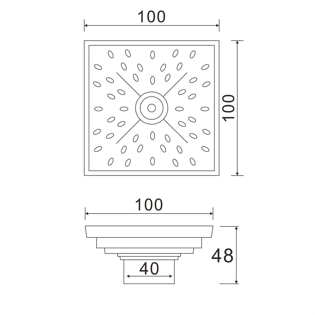 100x100mm dn40 antik messing bodenablauf abfluss dusche bad geruchsverschluss ebay. Black Bedroom Furniture Sets. Home Design Ideas