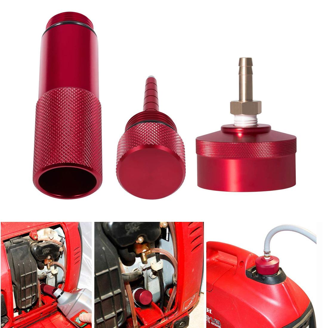 """Generator Extended Run Gas Fuel Cap 1//4/"""" Brass Hose For Honda EU2000i EU3000i #B"""