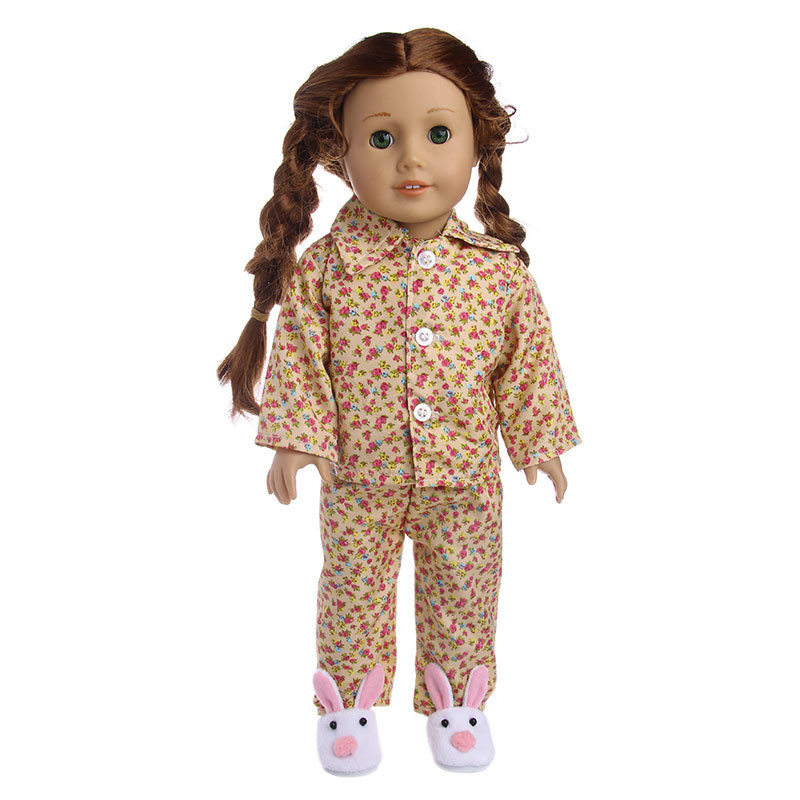 """Hot Latest Handmade pajamas 2-piece set Fits 18/"""" Inch American Boy Doll Clothes"""