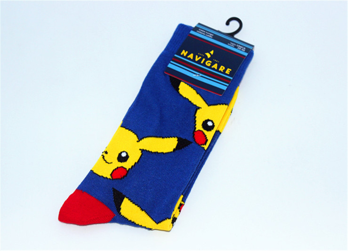 3 Pairs Anime Pokemon Cotton Socks Breathable Soild Sports Casual Cartoon Socks