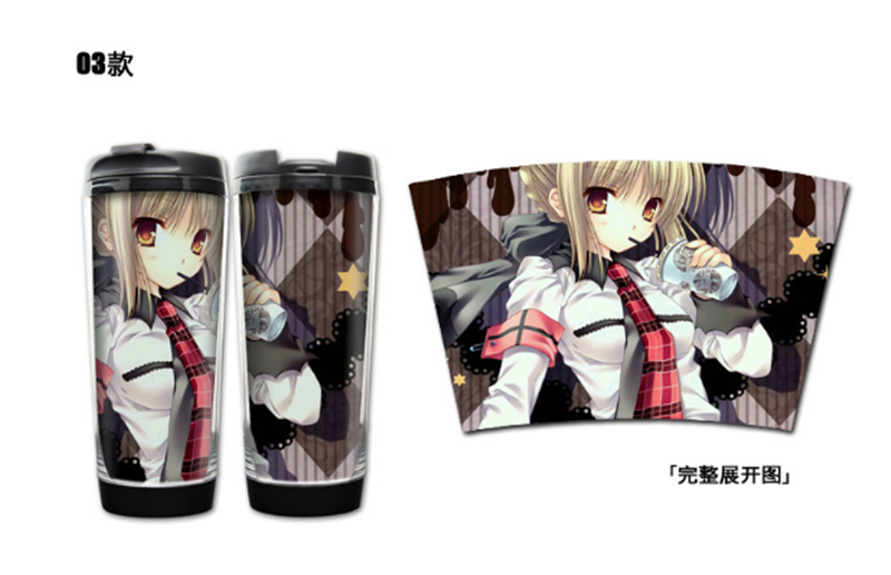 Anime Fate Stay Night Stainless Steel Water bottles Portable Cups Cosplay Gift