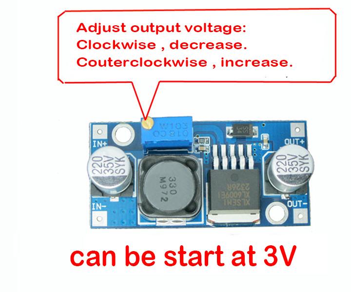 DC-DC Boost Step-Up 3V-32V 12V to 5V-35V 24V 4A Converter Power Supply Module