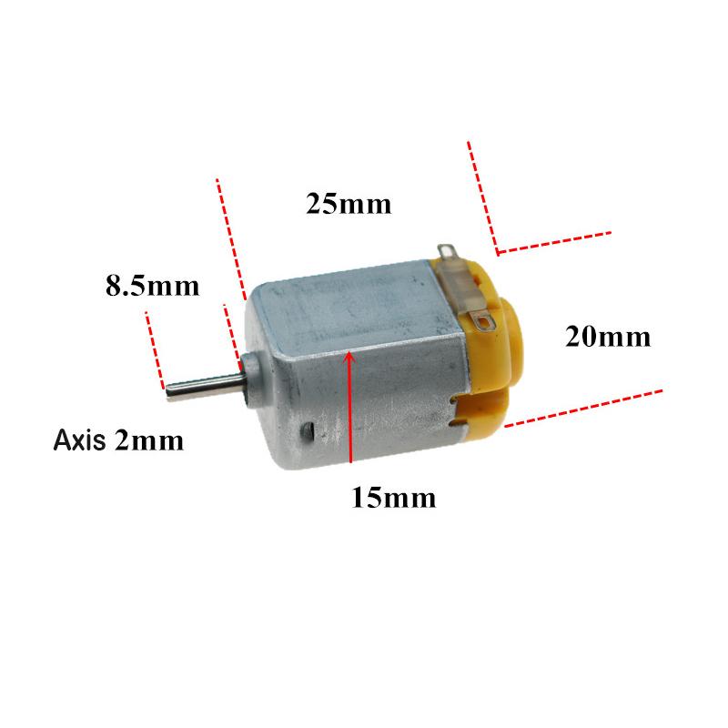 DC 3V 4.5V 6V 27000RPM High Speed 130 Motor For Remote Control DIY Toy Car Model