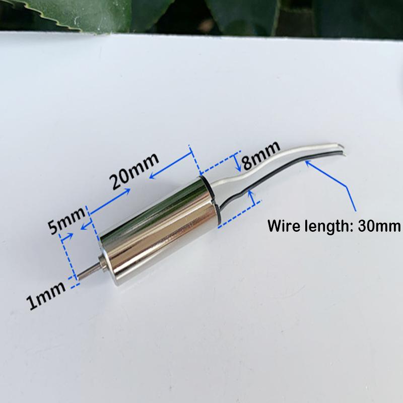 Propeller 2PCS 7mm*16mm DC 3V 3.7V 50000RPM High Speed Mini Coreless HM Motor